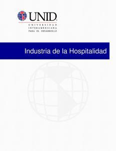 Industria de la Hospitalidad