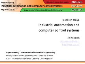 Industrial automation and computer control systems