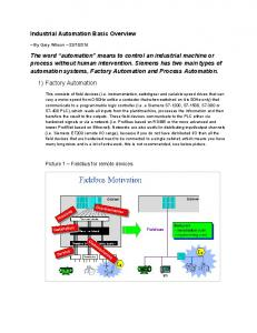 Industrial Automation Basic Overview