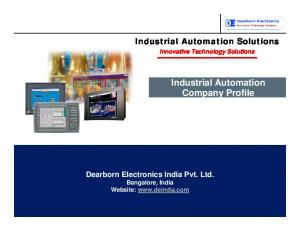 Industrial Automation Company Profile