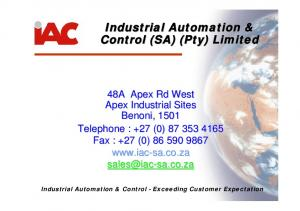 Industrial Automation & Control (SA) (Pty) Limited