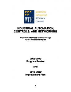 INDUSTRIAL AUTOMATION, CONTROLS, AND NETWORKING