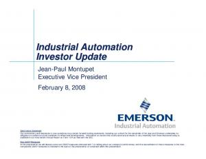 Industrial Automation Investor Update