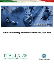 Industrial Cleaning Machines and Products from Italy