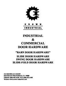 INDUSTRIAL & COMMERCIAL DOOR HARDWARE