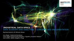 INDUSTRIAL DATA SPACE DATA ECONOMY AND ANALYTICS CONCEPTS AND IMPLEMENTATION
