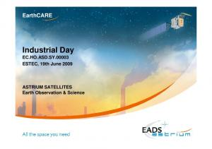 Industrial Day EC.HO.ASD.SY ESTEC, 19th June 2009