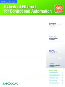 Industrial Ethernet for Control and Automation