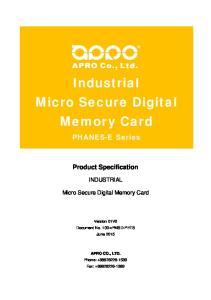 Industrial Micro Secure Digital Memory Card