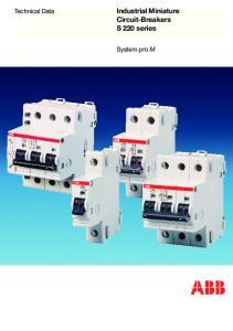 Industrial Miniature Circuit-Breakers S 220 series