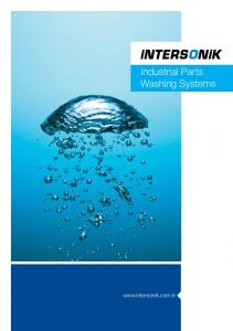 Industrial Parts Washing Systems