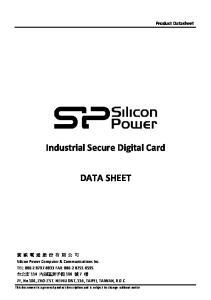 Industrial Secure Digital Card