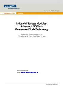 Industrial Storage Modules- Advantech SQFlash GuaranteedFlush Technology