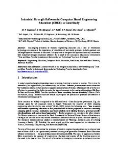 Industrial Strength Software in Computer Based Engineering Education (CBEE): a Case Study