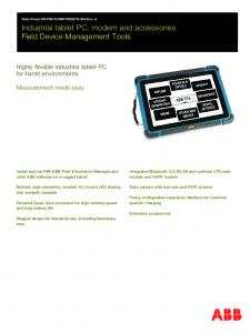 Industrial tablet PC, modem and accessories Field Device Management Tools