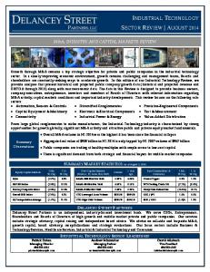 INDUSTRIAL TECHNOLOGY SECTOR REVIEW AUGUST 2014
