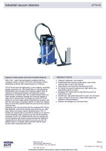 Industrial vacuum cleaners ATTIX 50