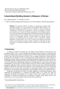 Industrialised Building System in Malaysia: A Review