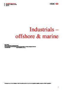 Industrials offshore & marine