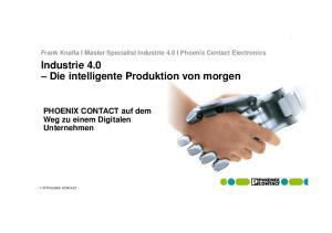 Industrie 4.0 Die intelligente Produktion von morgen