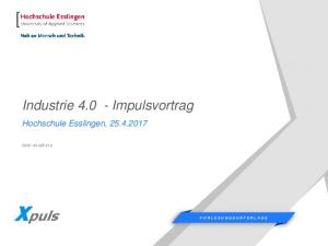 Industrie Impulsvortrag