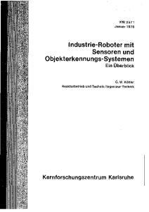 Industrie-Roboter mit Sensoren und Objekterkennungs-Systemen