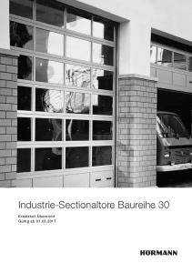 Industrie-Sectionaltore Baureihe 30