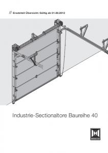 Industrie-Sectionaltore Baureihe 40
