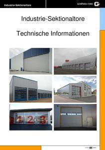 Industrie-Sektionaltore. Industrie-Sektionaltore. Technische Informationen