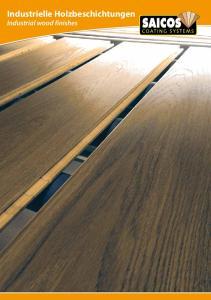 Industrielle Holzbeschichtungen Industrial wood finishes
