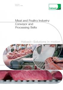 Industries Media No Meat and Poultry Industry Conveyor and Processing Belts. Habasit Solutions in motion