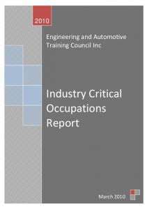 Industry Critical Occupations Report