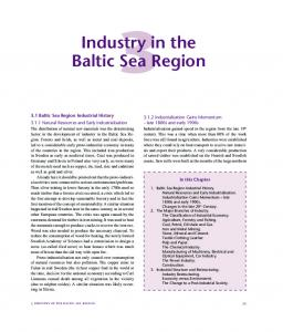 Industry in the Baltic Sea Region