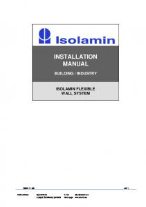 INDUSTRY ISOLAMIN FLEXIBLE WALL SYSTEM sid 1