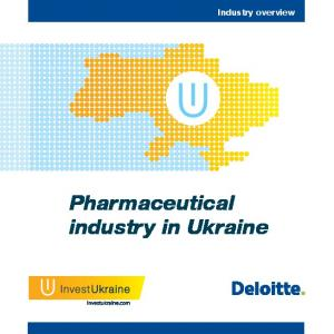 Industry overview. Pharmaceutical industry in Ukraine