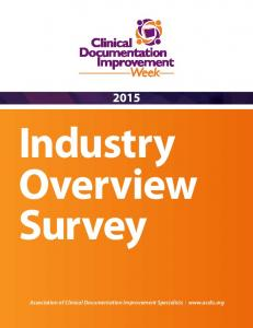 Industry Overview Survey