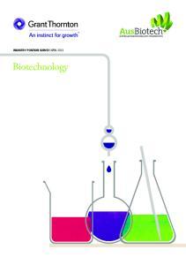 INDUSTRY POSITION SURVEY APRIL Biotechnology