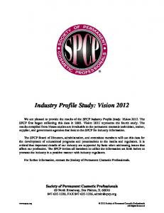 Industry Profile Study: Vision 2012
