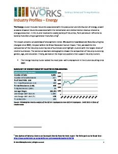 Industry Profiles Energy