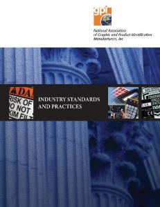 INDUSTRY STANDARDS AND PRACTICES