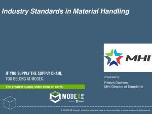 Industry Standards in Material Handling