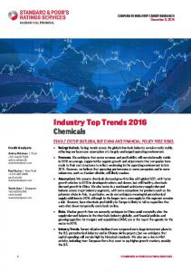 Industry Top Trends 2016 Chemicals