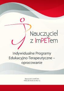 Indywidualne Programy Edukacyjno-Terapeutyczne opracowanie