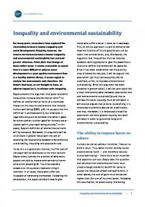 Inequality and environmental sustainability
