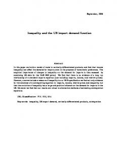 Inequality and the US import demand function