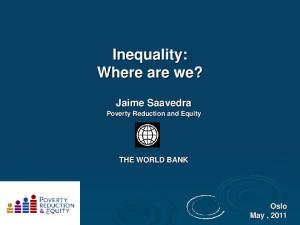 Inequality: Where are we?