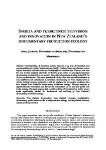 INERTIA AND TURBULENCE: TELEVISION