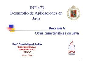 INF 473 Desarrollo de Aplicaciones en Java