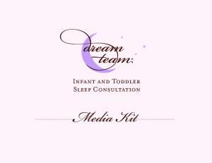 Infant and Toddler Sleep Consultation. Media Kit