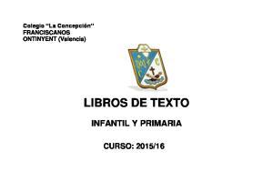 INFANTIL Y PRIMARIA CURSO: